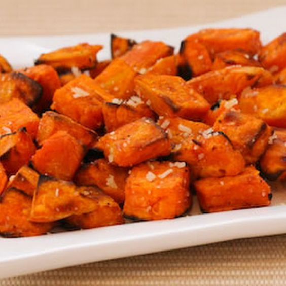 Roasted Sweet Potatoes Recipe with Double Truffle Oil Flavor and Parmesan